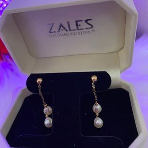 Pearl and Gold Earrings-Fine Jewelry